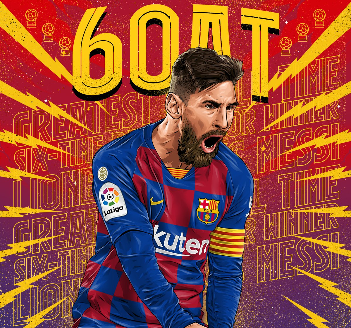 The 6OAT 🐐 💫 Leo Messi to display #BallondOr award before kickoff for #BarçaMallorca (Saturday, 9pm CET)