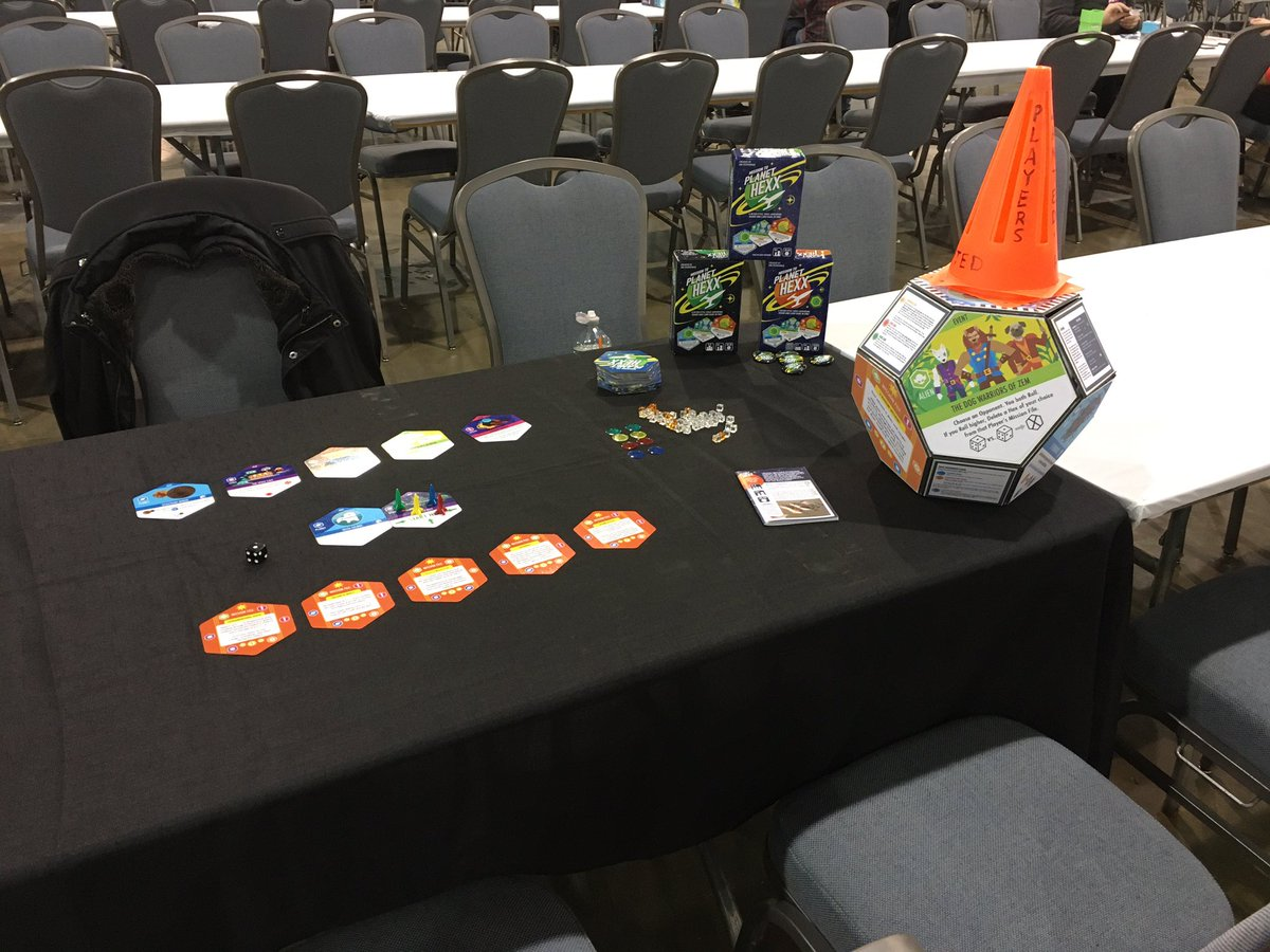 Back between the columns C3-C7 today until 2pm, with other game designers who have a lot to show. Come join us!  #paxunplugged #paxunplugged2019 #missiontoplanethexx #bgg #boardgamegeek #spacegames #tabletopgames #boardgame #spacegame #tabletopgame #boardgames #moverate20games