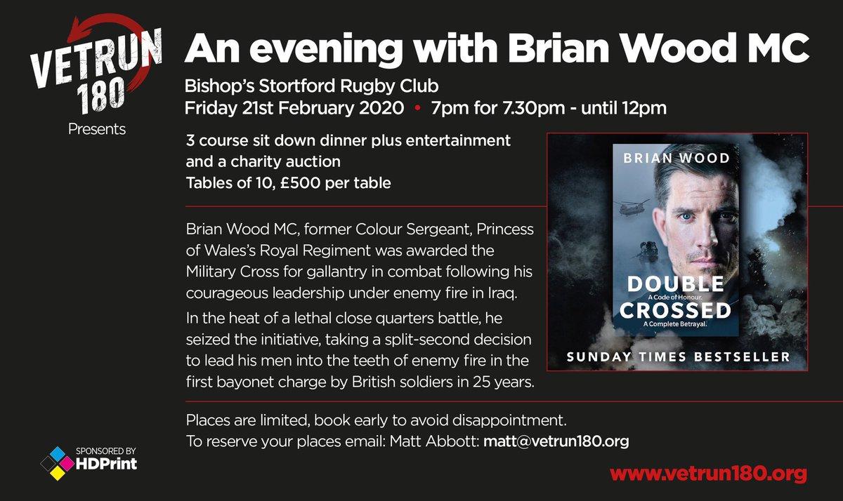 Vet Run 180 presents An Evening with Brian Wood MC @BSRUGBY @VetRun180 @brianwoodmc bsrfc.co.uk/news/vet-run-1…