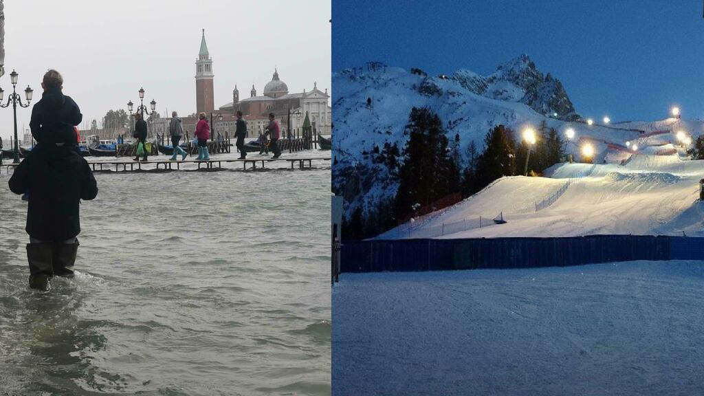 Vacanze di Natale, l'acqua alta svuota Venezia: tu...