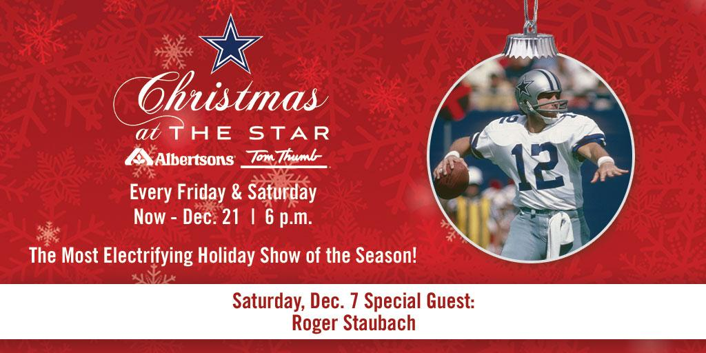 TONIGHT 🗣 Join special guest Roger Staubach at our Christmas at @thestarinfrisco presented by @Albertsons/@TomThumb_Stores showcasing the @DCCheerleaders & @DCRhythmBlue❕ Admission and parking are free → bit.ly/2LtGbja
