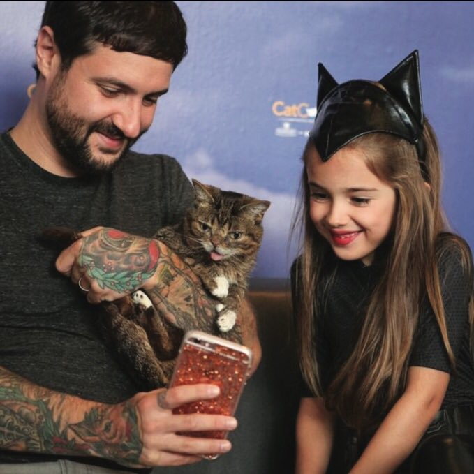 """""""My favorite instagram kitty, Lil Bub, has passed away and I want to thank her for everything. Without her I wouldn't have known about other special cats like her. I wouldn't know about my favorite convention #Catcon. I wouldn't have rescued my sweet blind kitten, Selleck..."""""""