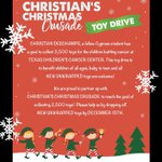 Image for the Tweet beginning: Help Christian collect 2500 toys