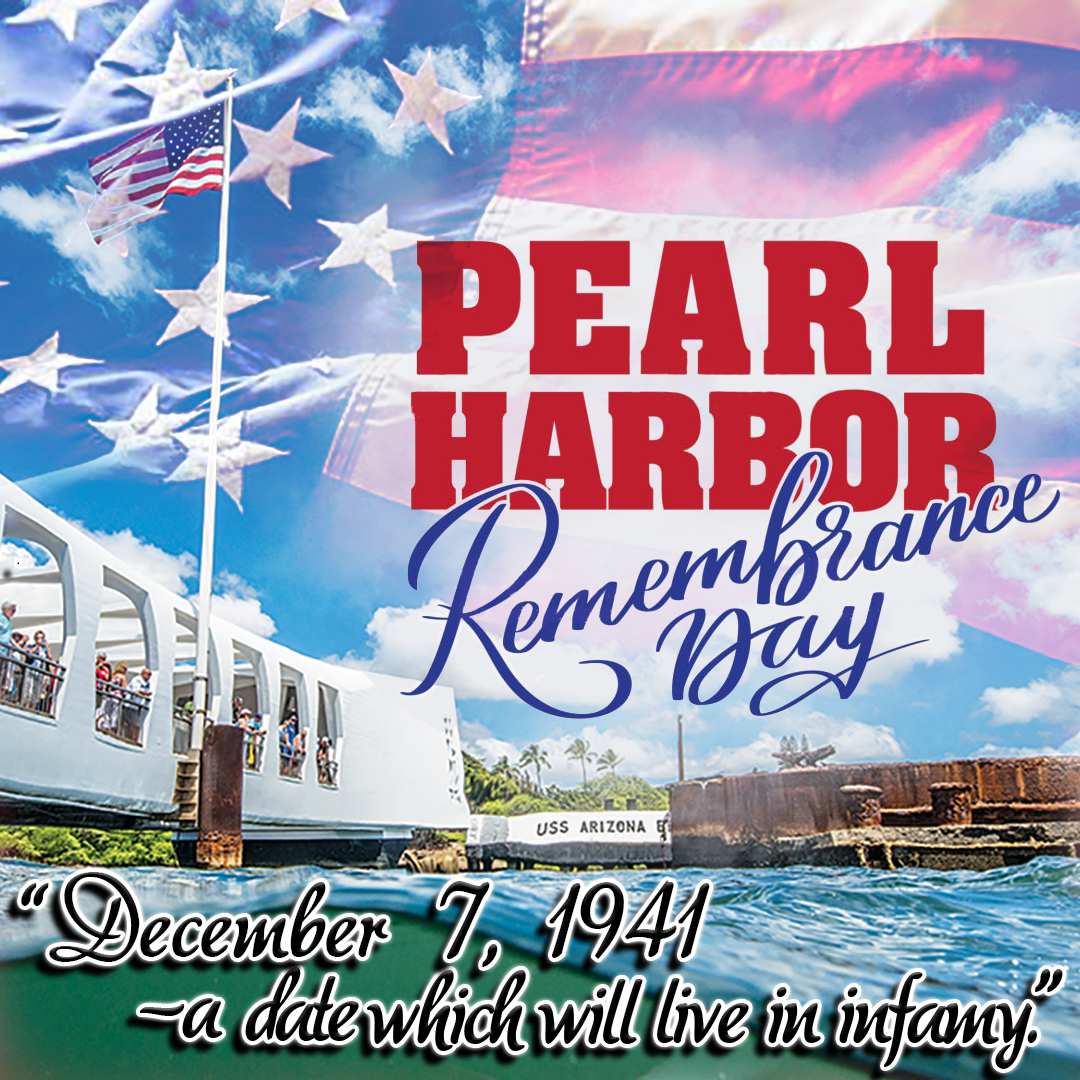 """December 7, 1941 - a date which will live in infamy.""  http://www. bridgecable.com      #PearlHarbor #RemembranceDay #adatewhichwillliveininfamy<br>http://pic.twitter.com/CklLpophB4"