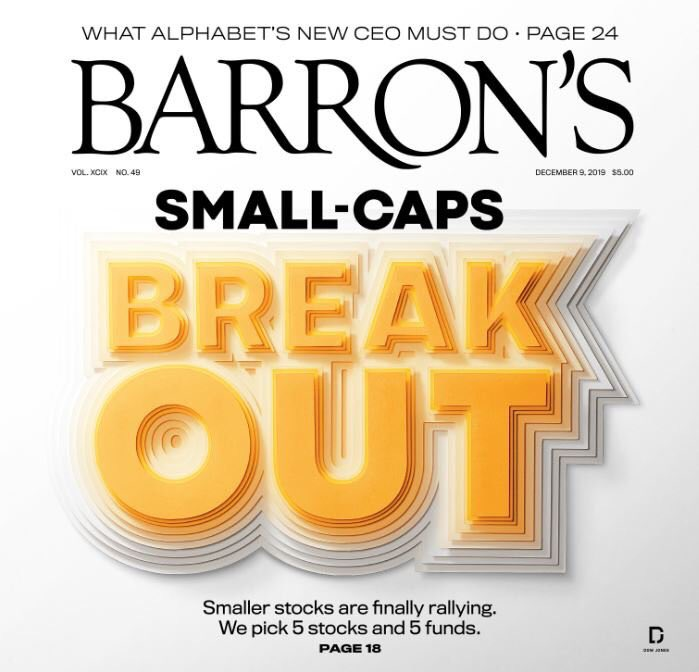 Russell2000. Small Caps. Barron's Cover