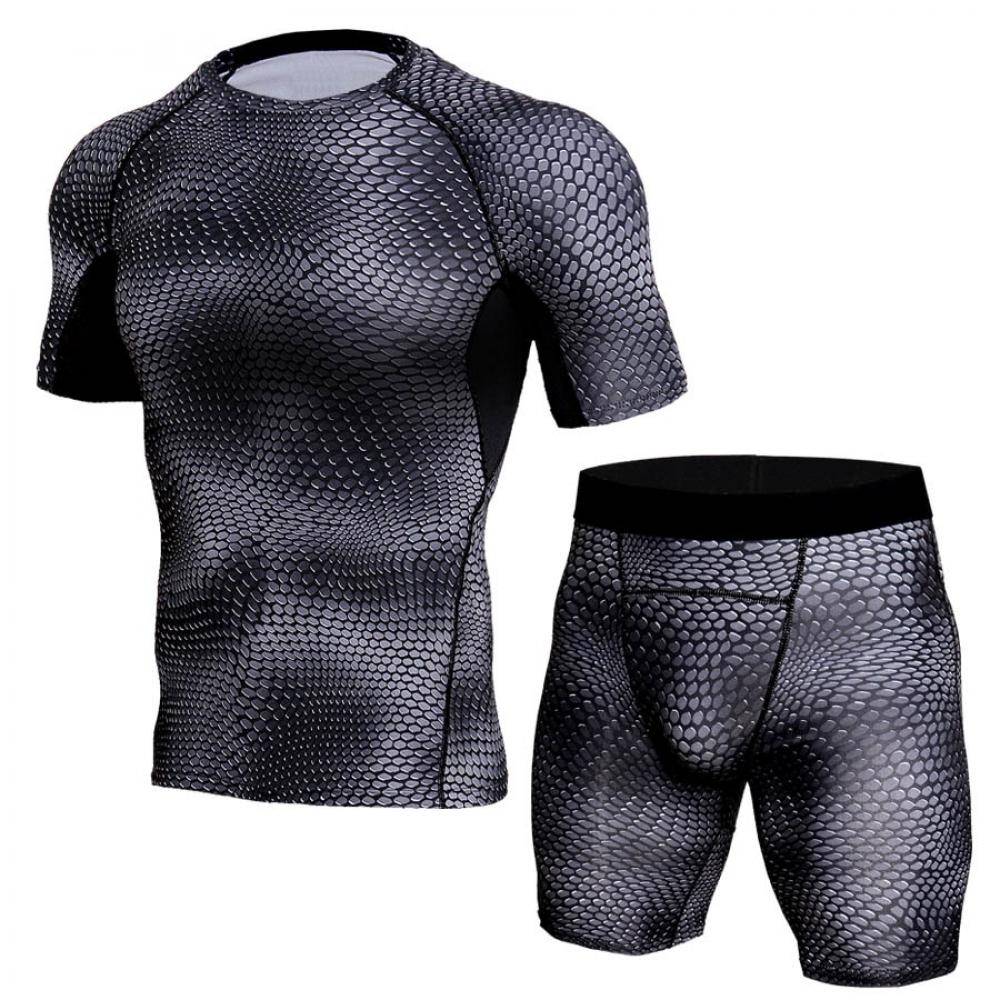 #mondaymotivation #fitnessfriday Spandex Fitness Compression Sets for Men