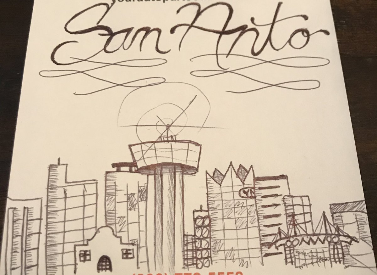 *SATURDAY SKETCH* I love My City San Antonio, TX!  Quick Pen Sketch of our Skyline 210 The Tower of America's!  San Anto  #SanAntonio #Texas #Drawing #Sketch #Quick #Art #ArtistOnTwitter #City #Skyline #CityScape #Pen
