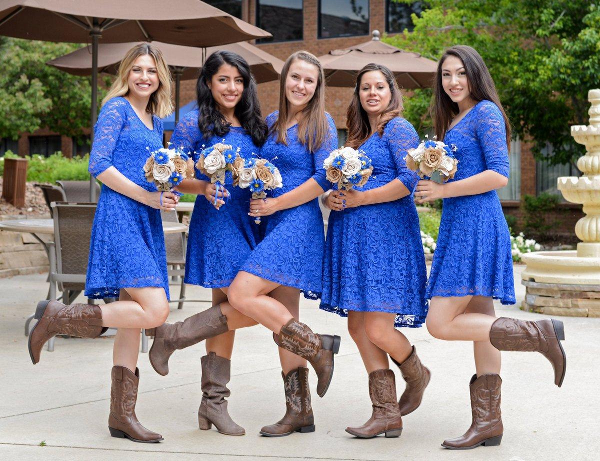 Bridesmaids showing off the cowboy boots! Thanks for having fun with it!  ashotaboveys@gmail.com  #ashotaboveweddings #wedding #weddings #photography #yubacity #yubasutter #marysville #liveoak #gridley #colusa #sutter #weddingphotographer