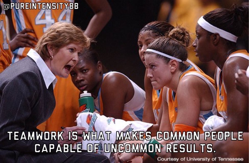 Teamwork is what makes common people capable of uncommon results - Pat Summitt <br>http://pic.twitter.com/Bv2Qnmu9JS