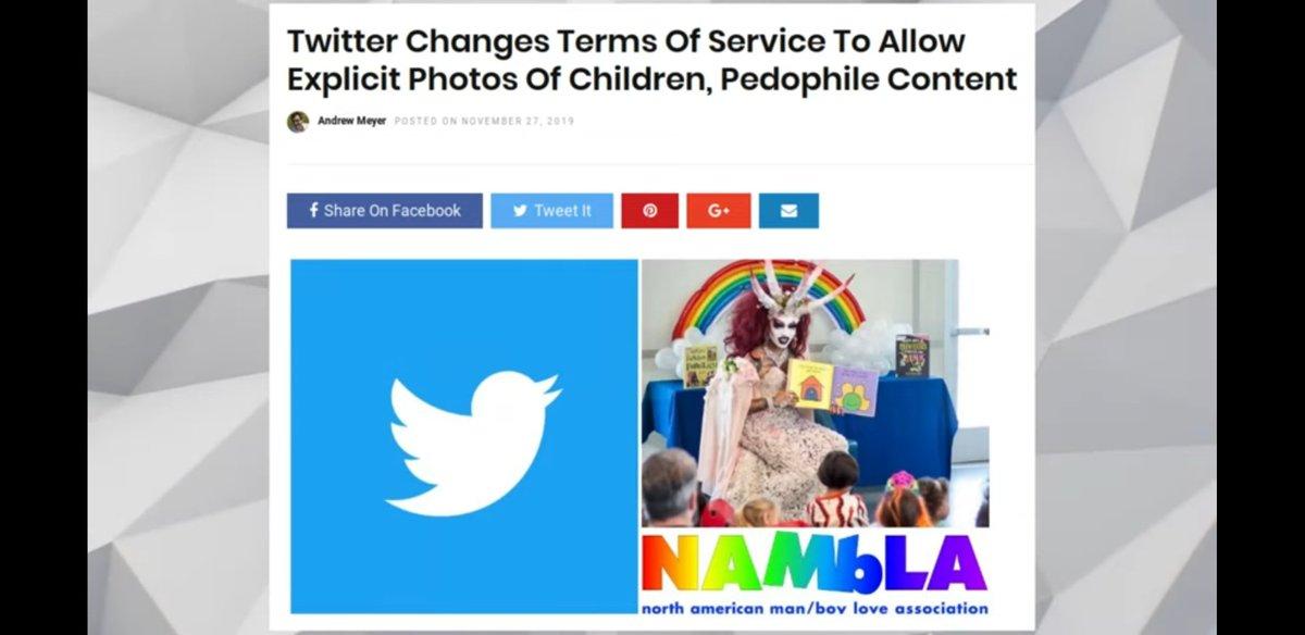 Twitter says pedophilia is ok.  Are you ok with that FBI?  I'm not.  #MAGA2020 #libtards #DeleteFacebook #EpsteinSuicideCoverUp #MAGA #rightnow