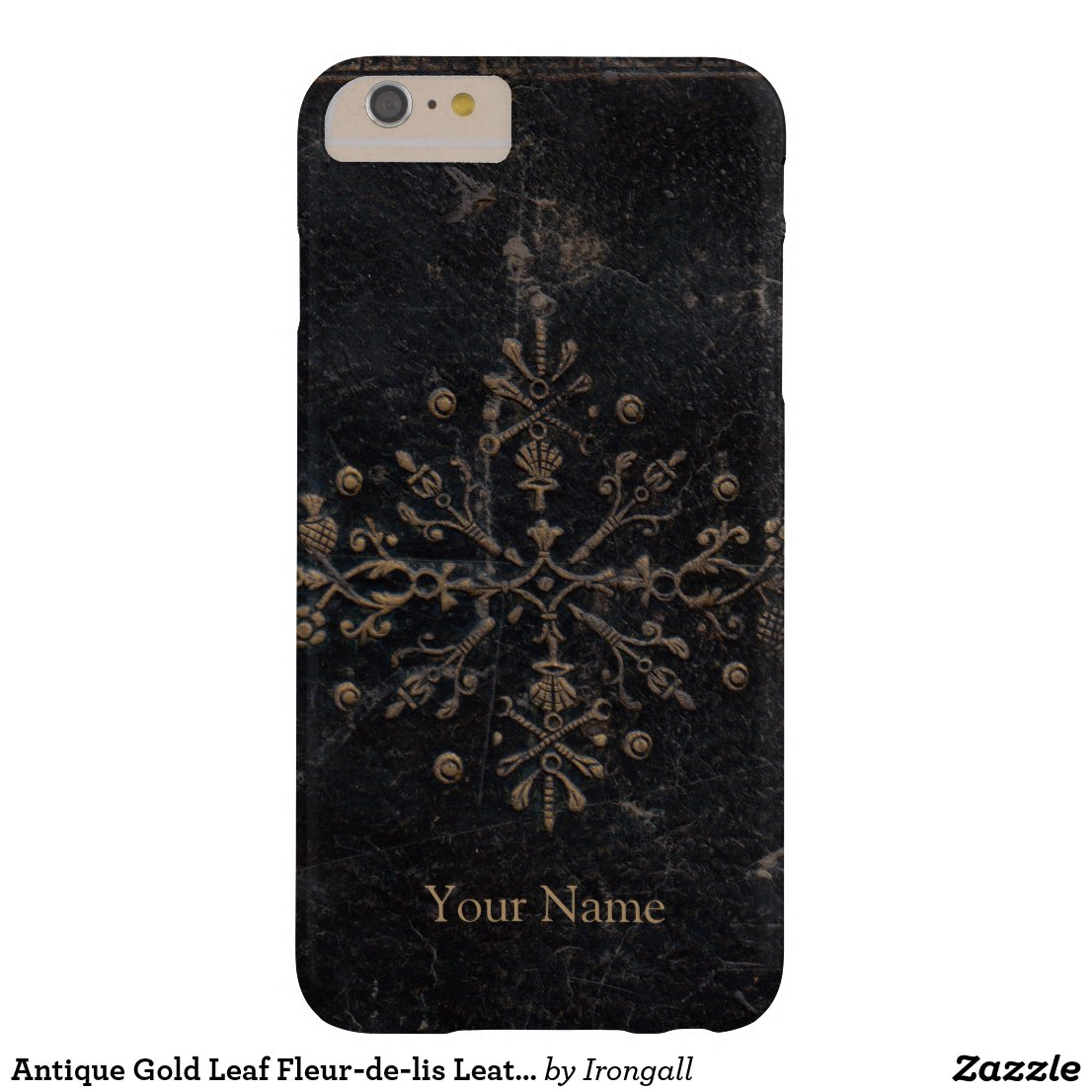 Antique #GoldLeaf on Faux Leather Case-Mate #iPhone #Case    Customize for Apple #iPhoneX