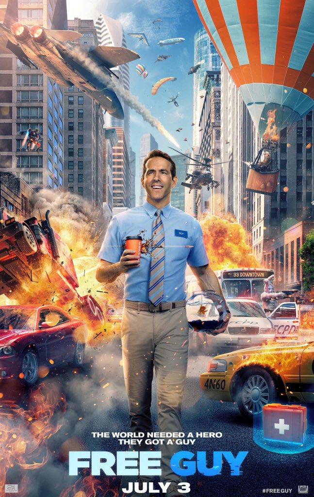 Free Guy Trailer & Poster Featuring Ryan Reynolds