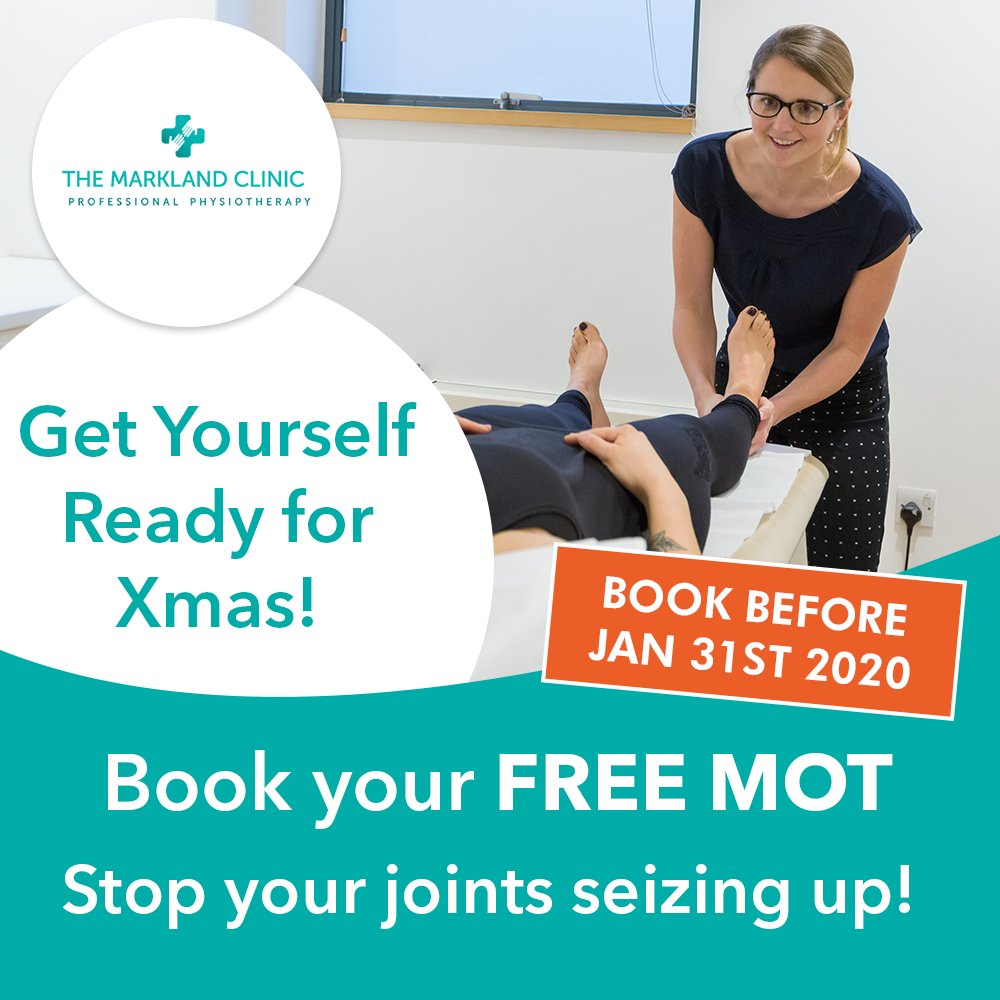 Book your FREE body MOT!  Click here...    Keep moving this Christmas!  Please mention FREE MOT when booking.  #marklandclinic #ache #pain #physio #painfree