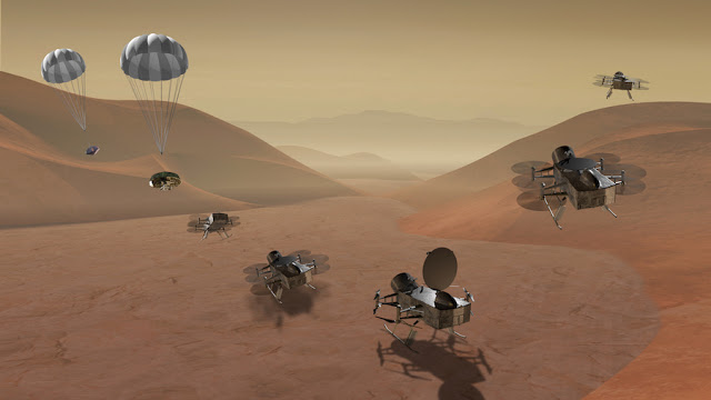 The Plan to Fly Drones on Saturn's Moon Titan:  #astrophysics #Titan #nasa #space #sff #esa #physics #UFO #astronmy #moons #kindle #kindleunlimited