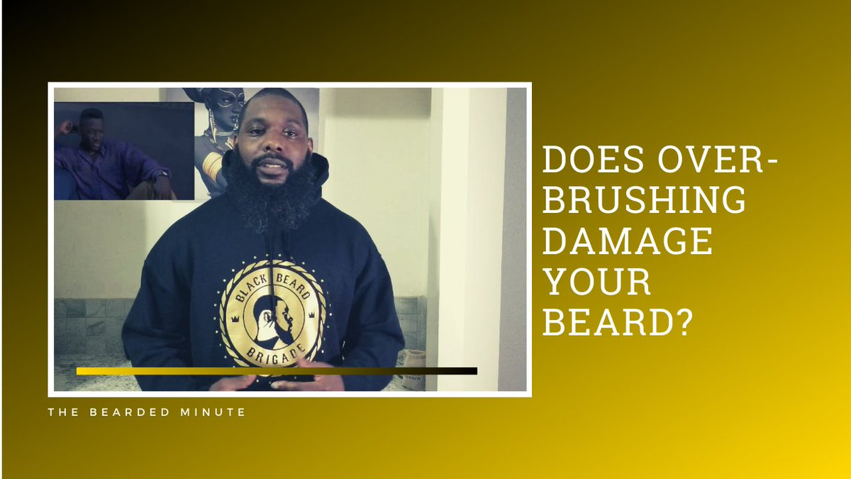 Hair loss is normal, but don't speed up the process by over-brushing and causing damage to your hair fibers. How often you brush your beard depends on the style you want and the weather outside.  https://buff.ly/33SGE4U #BeardCareTips #BlackMensGroomingTips #BeardGroomingpic.twitter.com/49R4tX6Brc