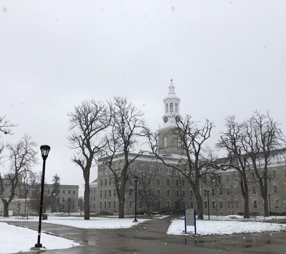 """Still in the """"snow is pretty"""" phase of the Buffalo winter. @UBuffalo"""