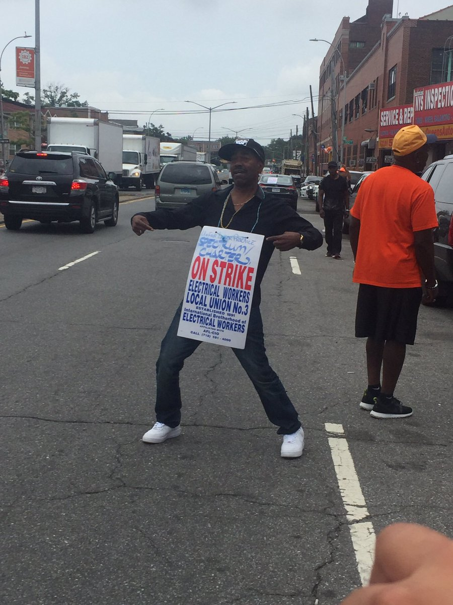 @AOC one of the most in your face injustice. #SpectrumStrike check on the details focus on 1800 families hurt 985 days. No justice as on today. So why not investigate this on going problem. Thx to Kurtis Blow for standing up. @kurtisblow100<br>http://pic.twitter.com/FHozEKWayI