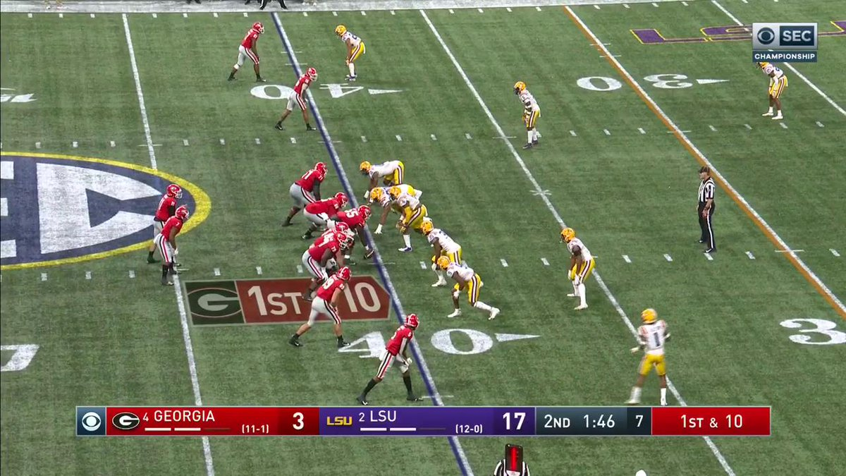 PICK FOR LSU! Derek Stingley finds it at the last second.
