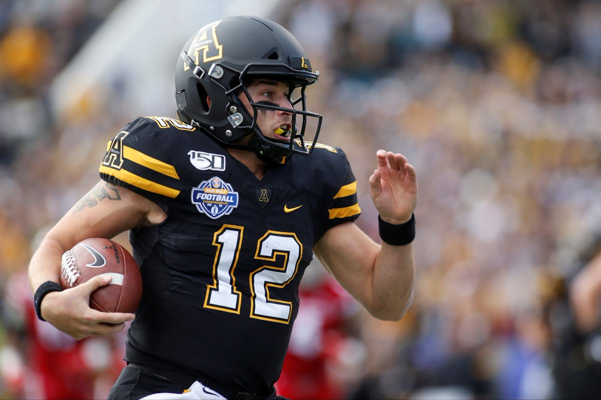 Appalachian State is now 12-1 on the season; a Sun Belt record for most wins in a single season.  App St has now won 4 consecutive Sun Belt conference titles. Entering today, they were 1 of 3 teams to win 3-consecutive conference titles (Clemson & Oklahoma are the others) <br>http://pic.twitter.com/GcGttNxqX9