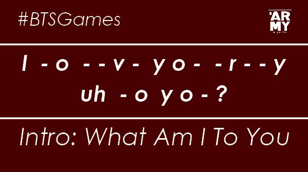 #BTSGAME   #BTSARMY today we are switching up our @BTS_twt game.    This week we want you to guess the lyrics to the song in the comments below.    Have fun #ARMYMAGAZINE #BTS   #방탄소년단pic.twitter.com/KLoMuQpId8