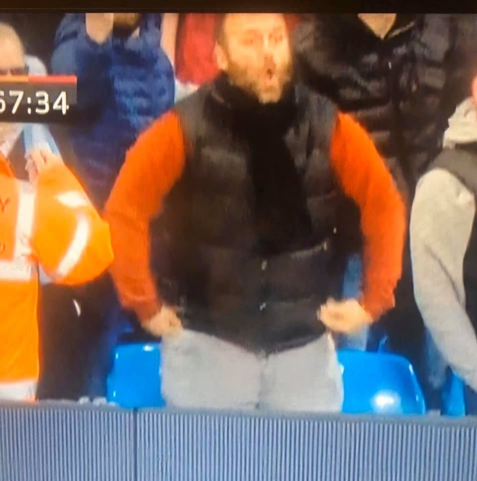 Imagine being this much of a racist, thick Neanderthal, and thinking you'd get away with it? We can see you doing your monkey signs & noises, d*ckhead, and you're going to very quickly wish you'd never done this. #ManchesterDerby #MCIMUN