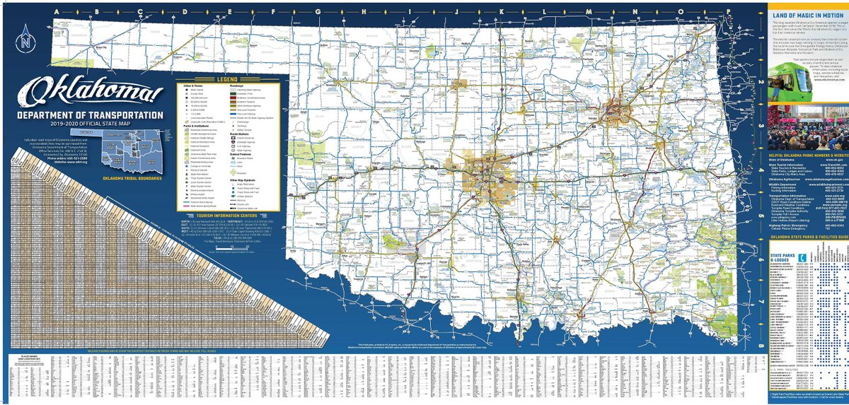 Image posted in Tweet made by Oklahoma Department of Transportation on December 7, 2019, 9:00 pm UTC