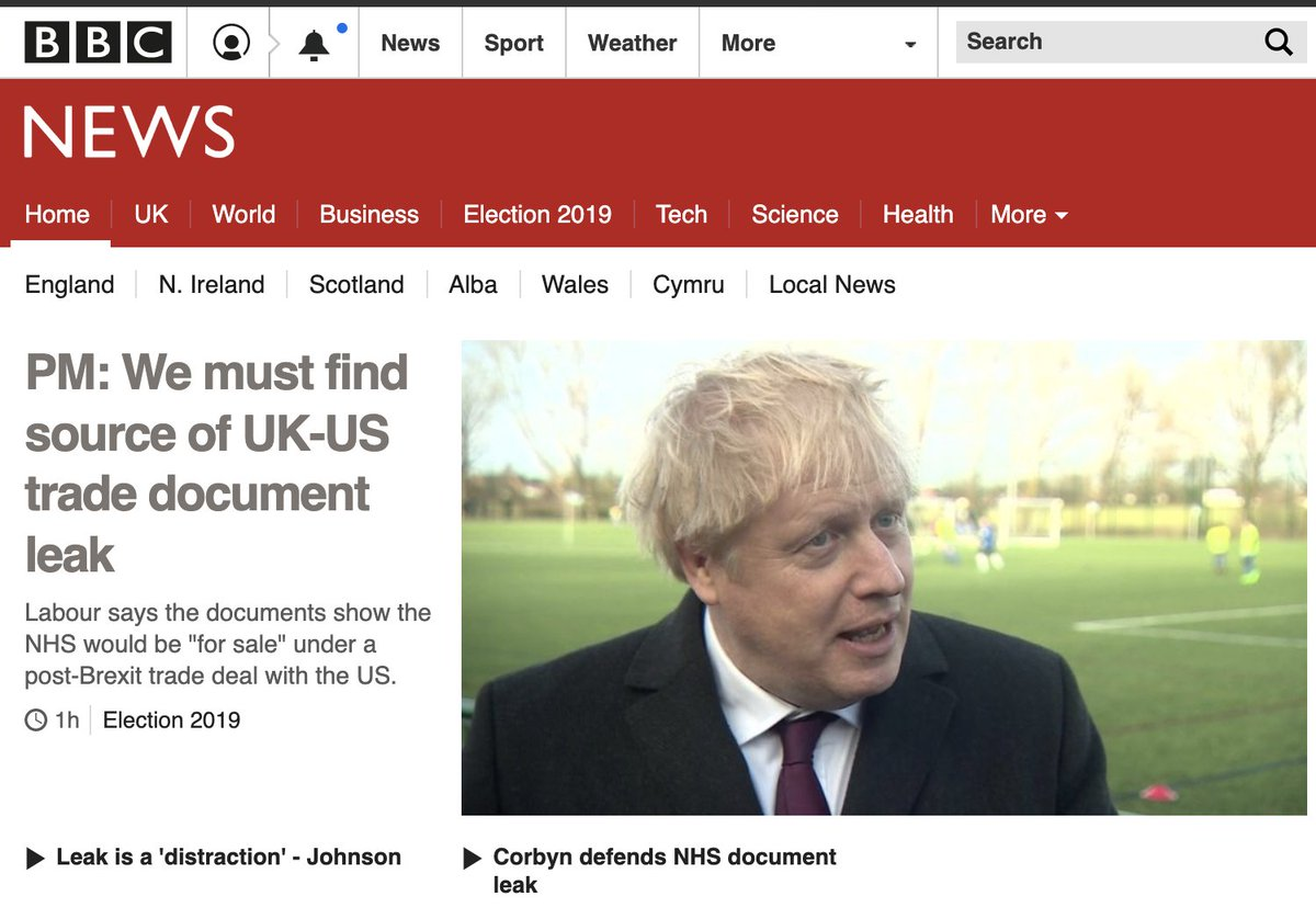 Ive been to Hungary, and learned how a state broadcaster became a government mouthpiece. The state of the BBC in this election. The government is suppressing a report detailing Russian interference in British democracy, and this is how the BBC is splashing on the Tory NHS leak.