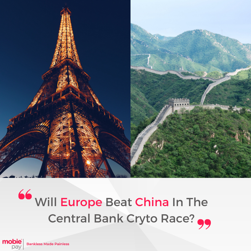 The race appears to be on between #China and #Europe to launch the world's first central bank-backed #crypto coin. The #US is nowhere to be seen in this contest since it remains beleaguered by bureaucracy and inconsistent regulations.  Source: bitcoinist   #MobiePay #bitcoin #btc