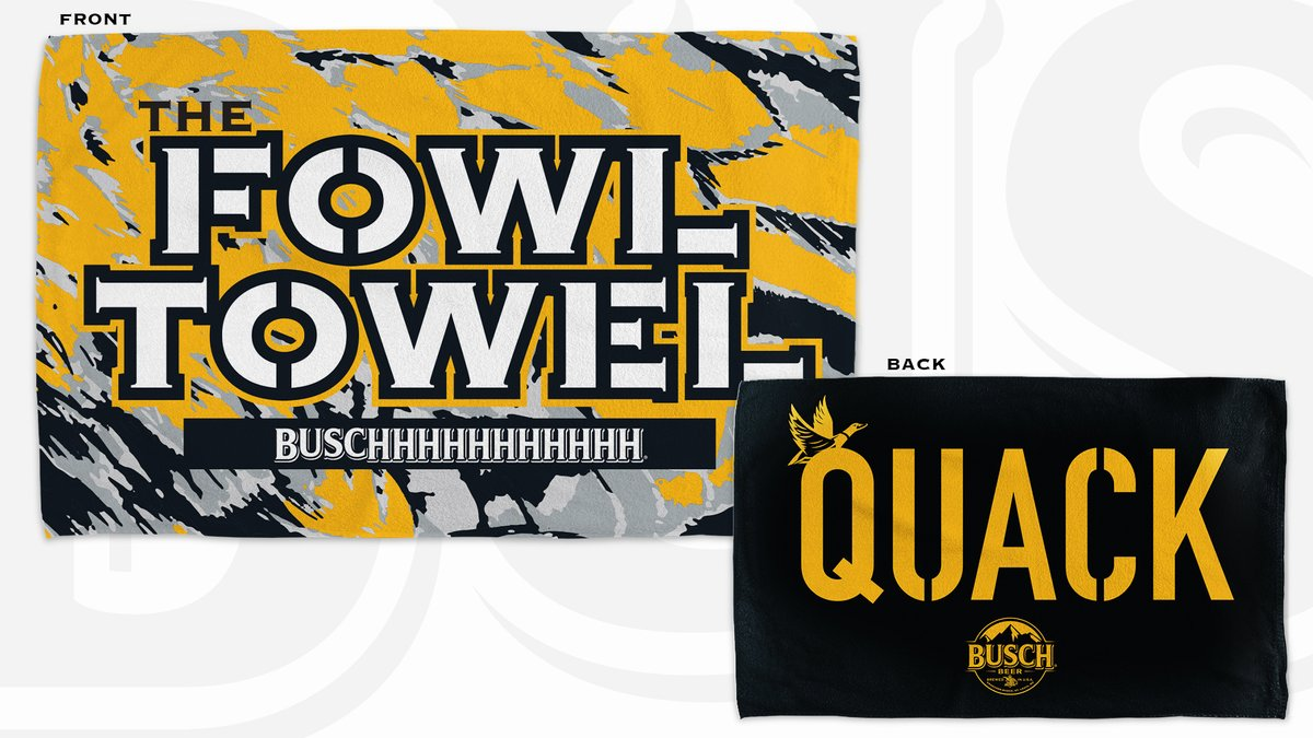 #Steelers fans can't bring duck calls into Heinz Field to quack for Busch lover @DevlinHodges10. That really ducks. So we're gonna help you quack all over the USA. If this tweet gets 6,000 RTs, we'll bring #TheFowlTowel🦆 to life for No. 6