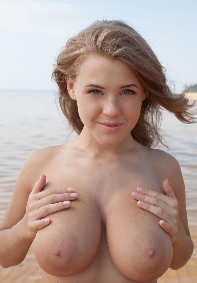 Big natural titties pov