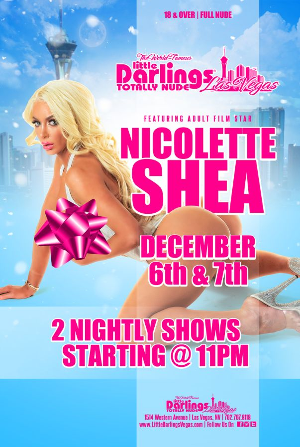 Sizzling Saturday party with the gorgeous @Nicolette_Shea tonight at Little Darlings Las Vegas! 2 shows tonight starting at 11pm! Dont miss her last night in town!