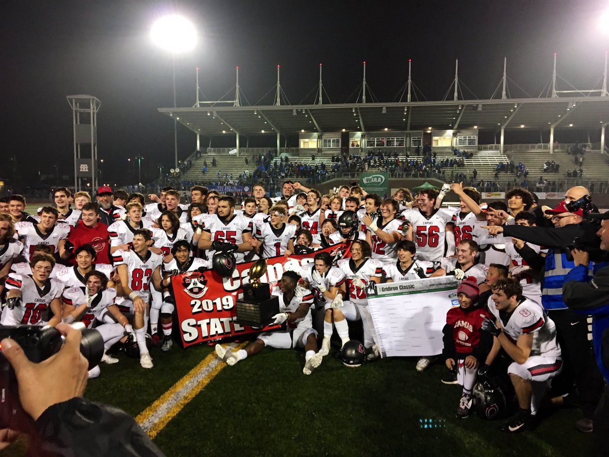 Wiaa On Twitter 2019 4a Football Champions Camas Papermakers Gridironclassic