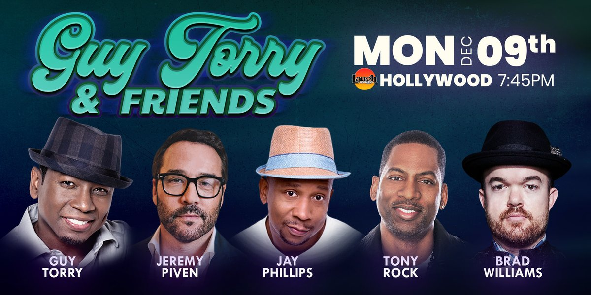 Some #MondayMotivation for you. Come see #standupcomedy this Star-Studded lineup. Catch HBO #Entourage ✨ @jeremypiven, Think Like a Man ✨ @TONYROCK with @funnybrad, @JayPhillipsLive, and @GuyTorry! GET YOUR TICKET'S TO THIS AWESOME SHOW ASAP!  Tix -