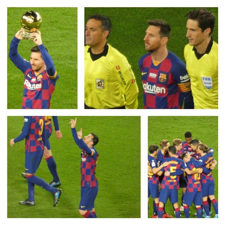 Privileged to see #MESSI tonight at Camp Nou. #Hatrick for the 6 times #BallonDor winner. Legend. #FCBarcelona #LaLigaSantander