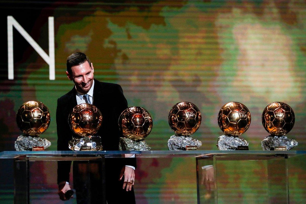 واقعی میسی ایک بکرا ہے 🐐  2009. 2010. 2011. 2012. 2015. 2019.  Sixth #BallondOr ⚽ #Messi