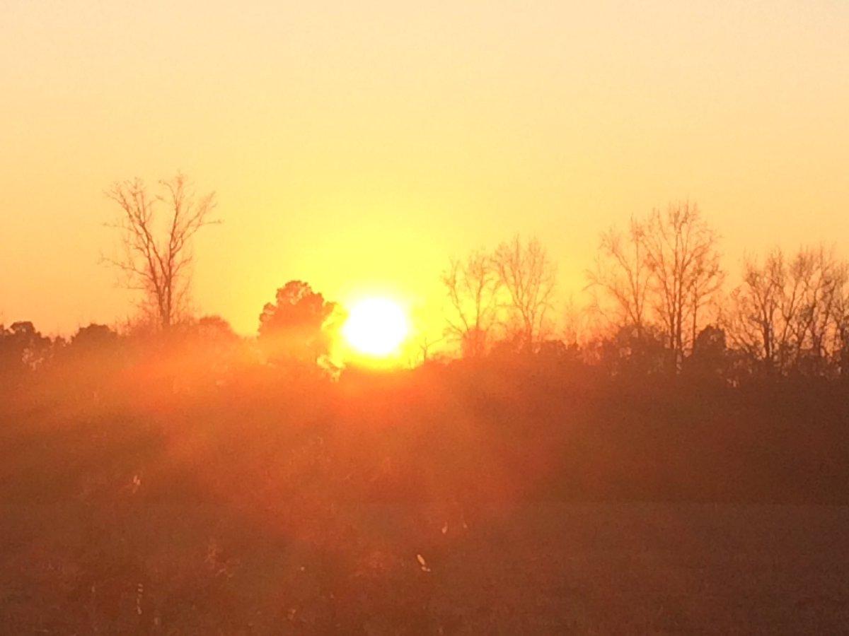 Sunset Evening Sky☀️ December 2019 Photo By: Joseph Hill🙂📸☀️ #sunset #bright #BrightToday #evening #dusk #field #winter #beautiful #VassNC #December