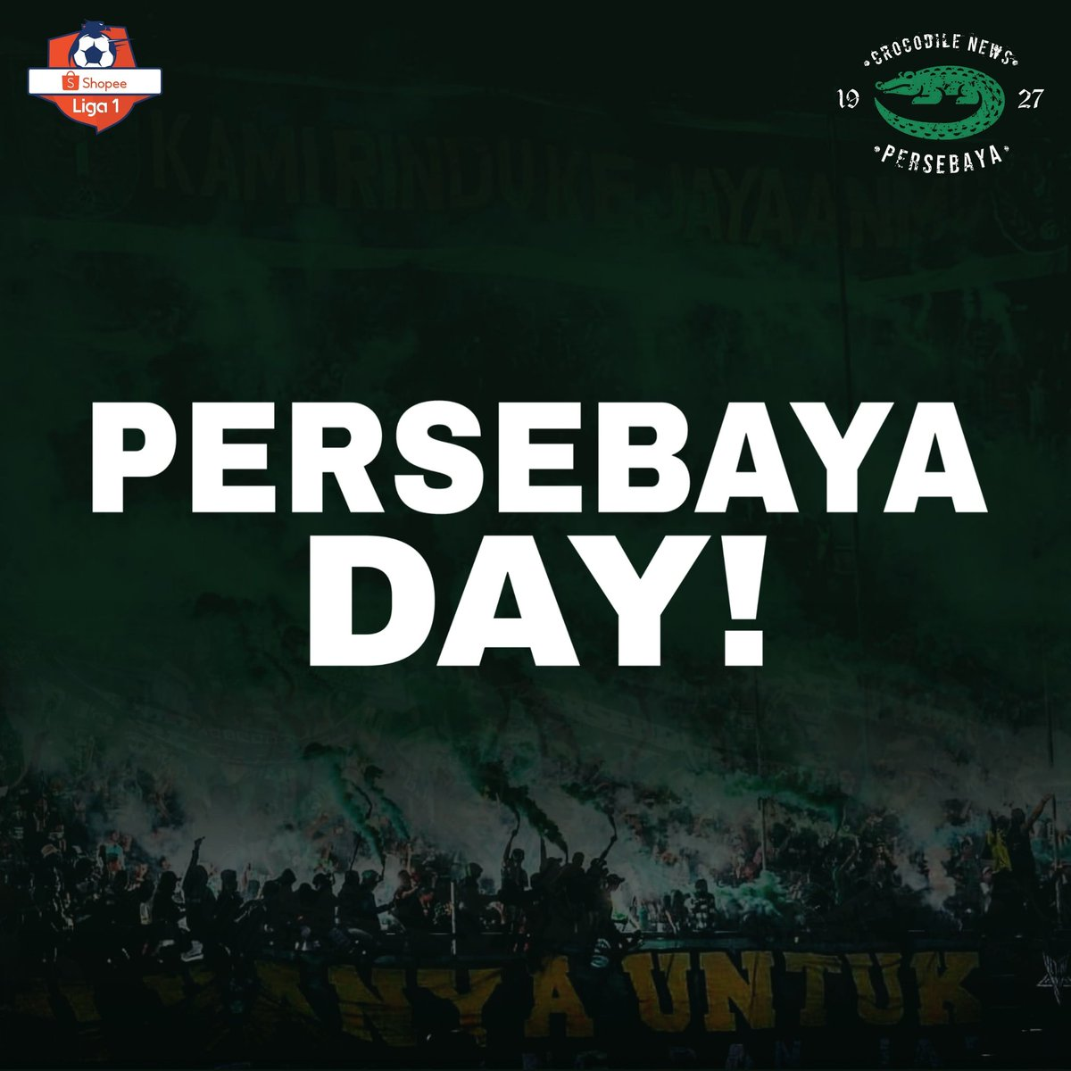 Happy Persebaya Day!  Bismillah semoga 3 poin hari ini! #Persebaya #bajolijo #greenforce #CrocodileNews #bonek #bonita #PersebayaDay