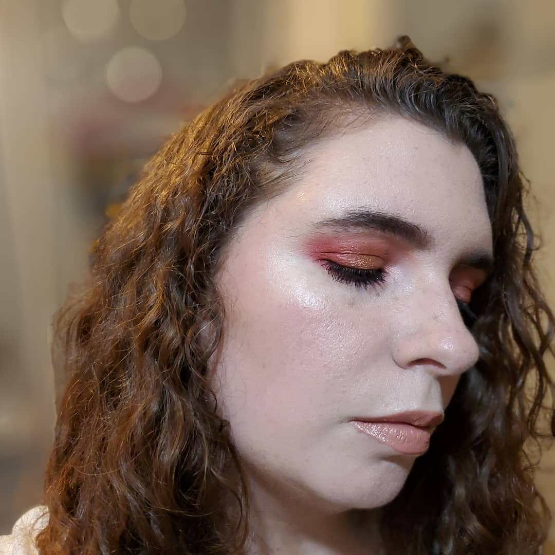 Played with my @JeffreeStar #bloodsugar palette today. I'm no pro, but I'm pretty happy with how my look turned out. #JeffreeStarCosmetics