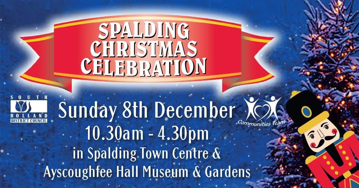 Today visit the Spalding Christmas Celebration from 10.30.  Carols by Candlelight will take place at 4pm, with a visit by Santa for the close at 4.30pm.   #LincolnshireEvents  #Spalding <br>http://pic.twitter.com/sKA5DeBAXP