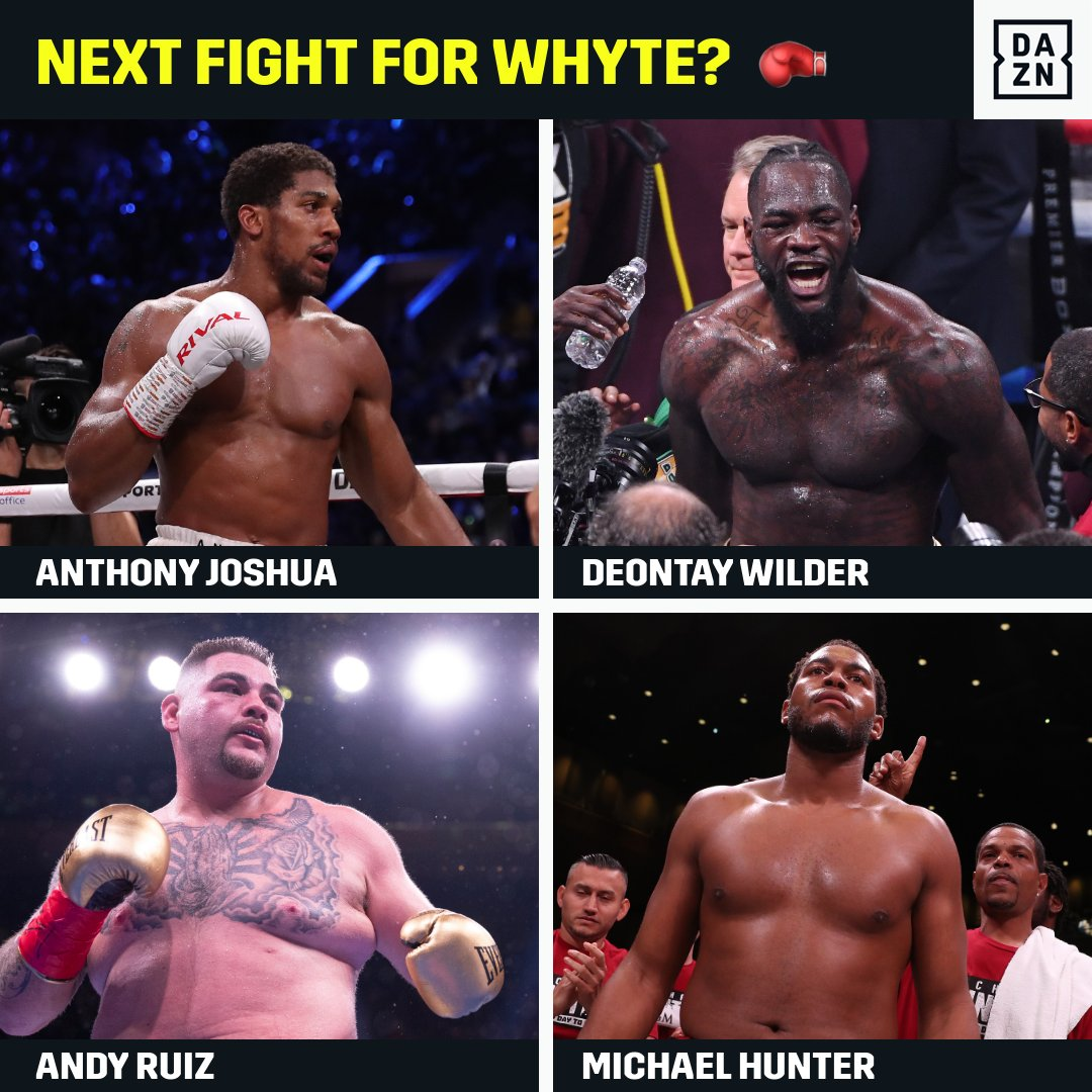 Who next for @DillianWhyte? #WatchOnDAZN