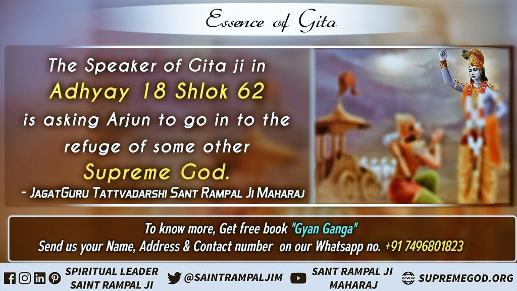 #Secrets_Of_BhagavadGita It is observed in Gita chapter 16 verses 23-24 that those who abandon the Shastra method and perform arbitrary conduct (worship) achieve neither happiness nor supreme progress nor accomplishment to accomplish any work. for more information See Sadhana TV <br>http://pic.twitter.com/LzgI8gxOJ7