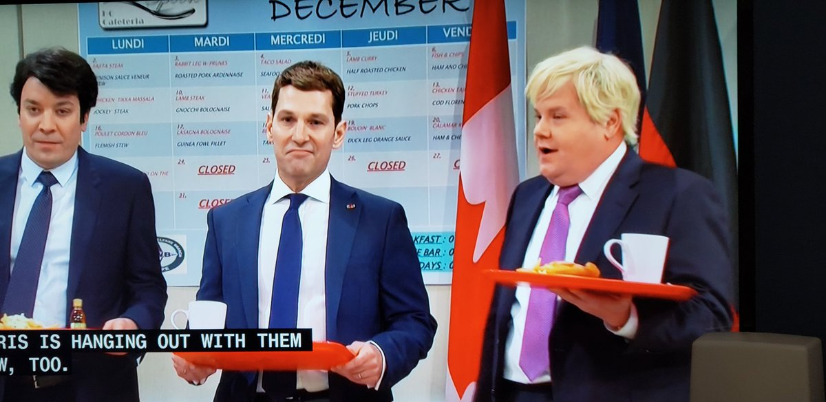 Just tune in to SNL if you haven't. Look who's playing Justin Trudeau, Enamuel Macron and Boris Johnson mocking Trump at Nato summit <br>http://pic.twitter.com/OV4n6w6UBR