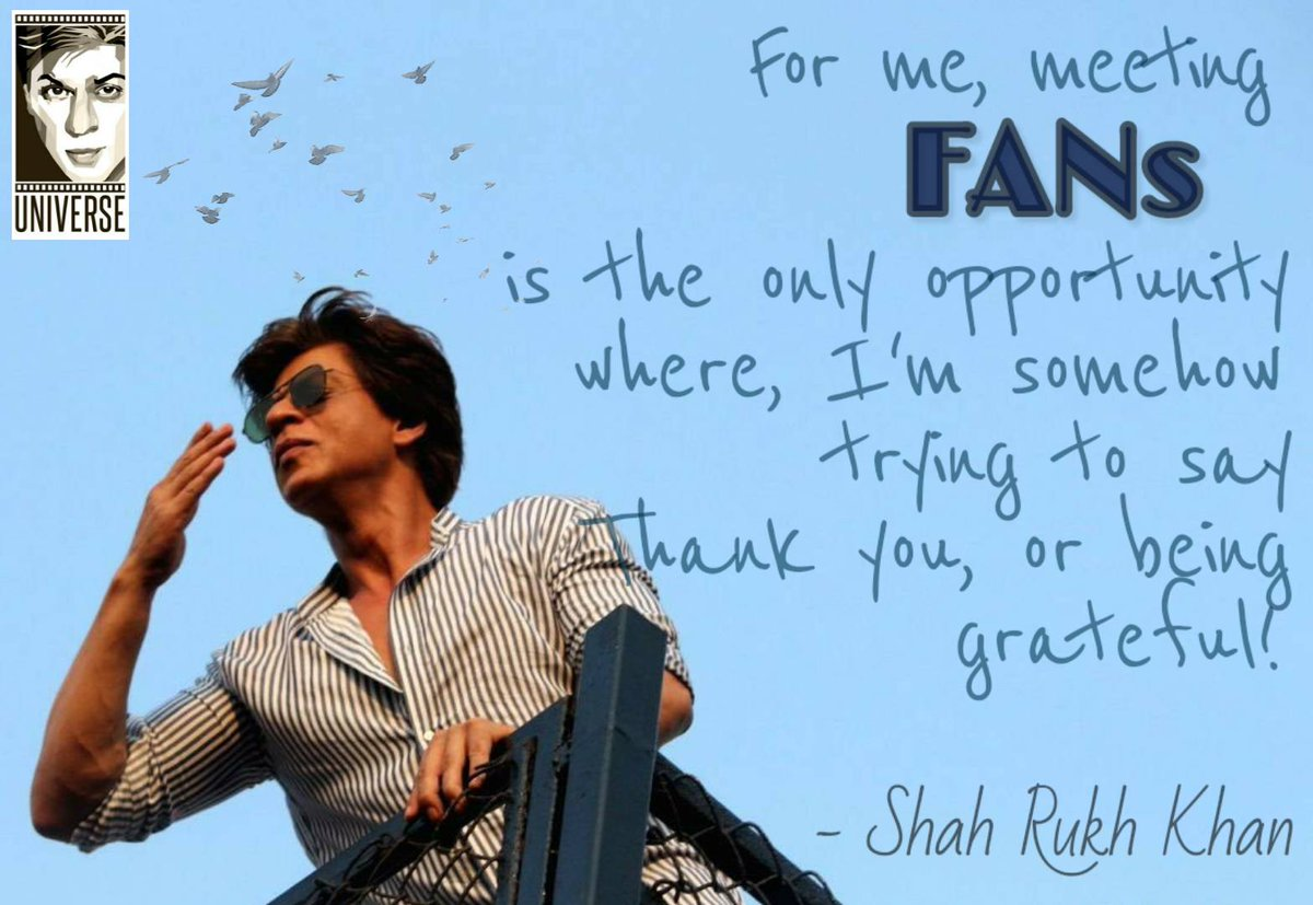 Nobody loves their fans as much as SRK does. We are his family. And like K3G taught us, it's all about loving your family! 💖✨