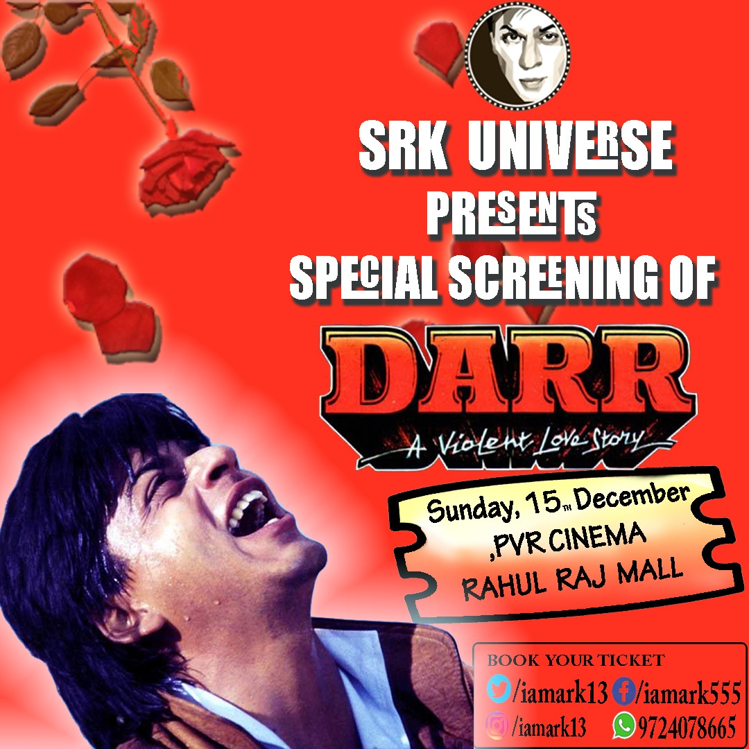 Special screening of #Darr in Surat. ❤️ Contact @iamark13 for more details!