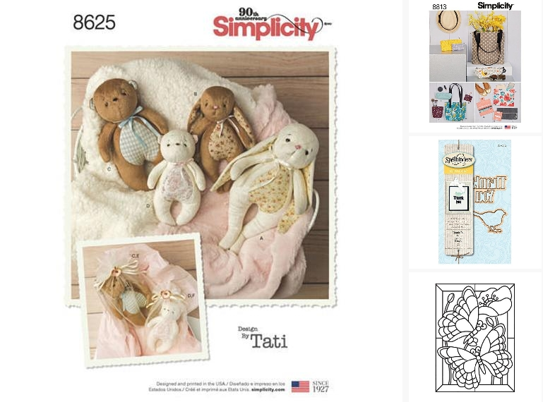 Simplicity 8625 Sewing Pattern Stuffed Animals #supplies @EtsyMktgTool  #simplicity #pattern #animallover