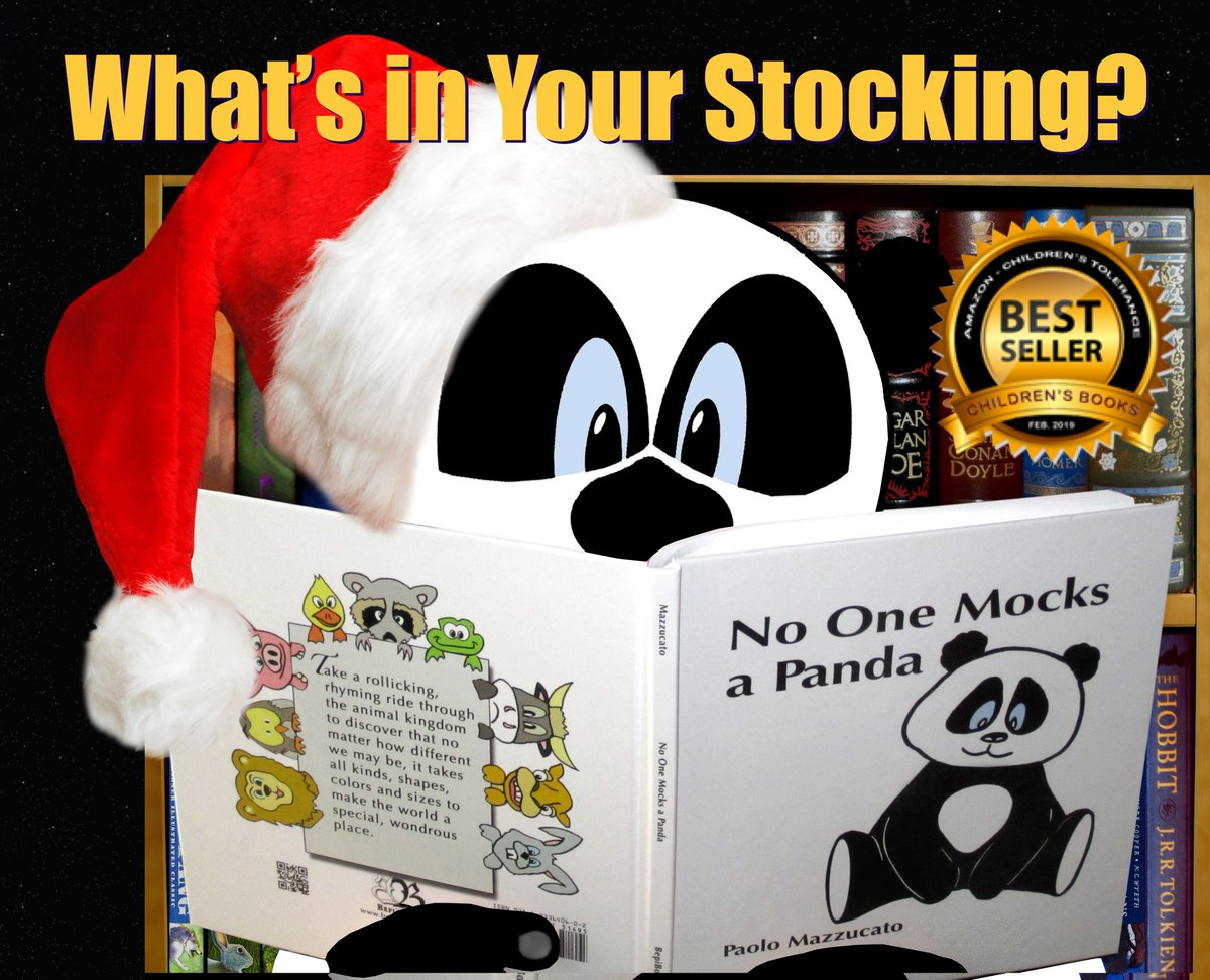 If it fits in your stocking, then by all means... 🐼👌 at bepibooks.com/panda.html and on Amazon. #gifts #ChildrensBooks #bullying #DiversityandInclusion #diversity #antibullyingweek #kidsbooks #animals @AntiBullyingPro @ABAonline @antibullychamp @PWKidsBookshelf @kids_books