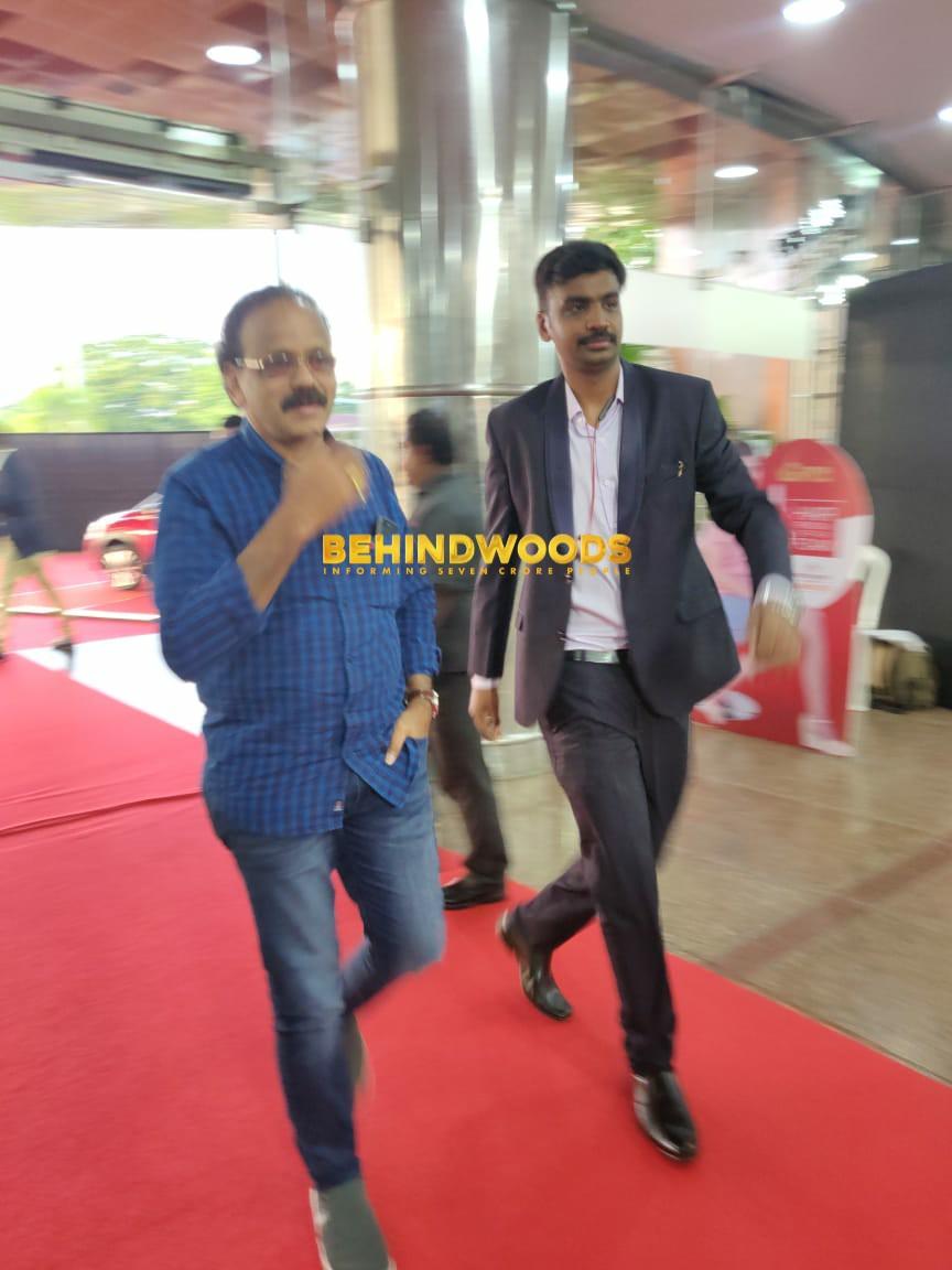 Producer @Dhananjayang has arrived at BGM Venue! 💥💥🤩 #BGM7 #BehindwoodsGoldMedals