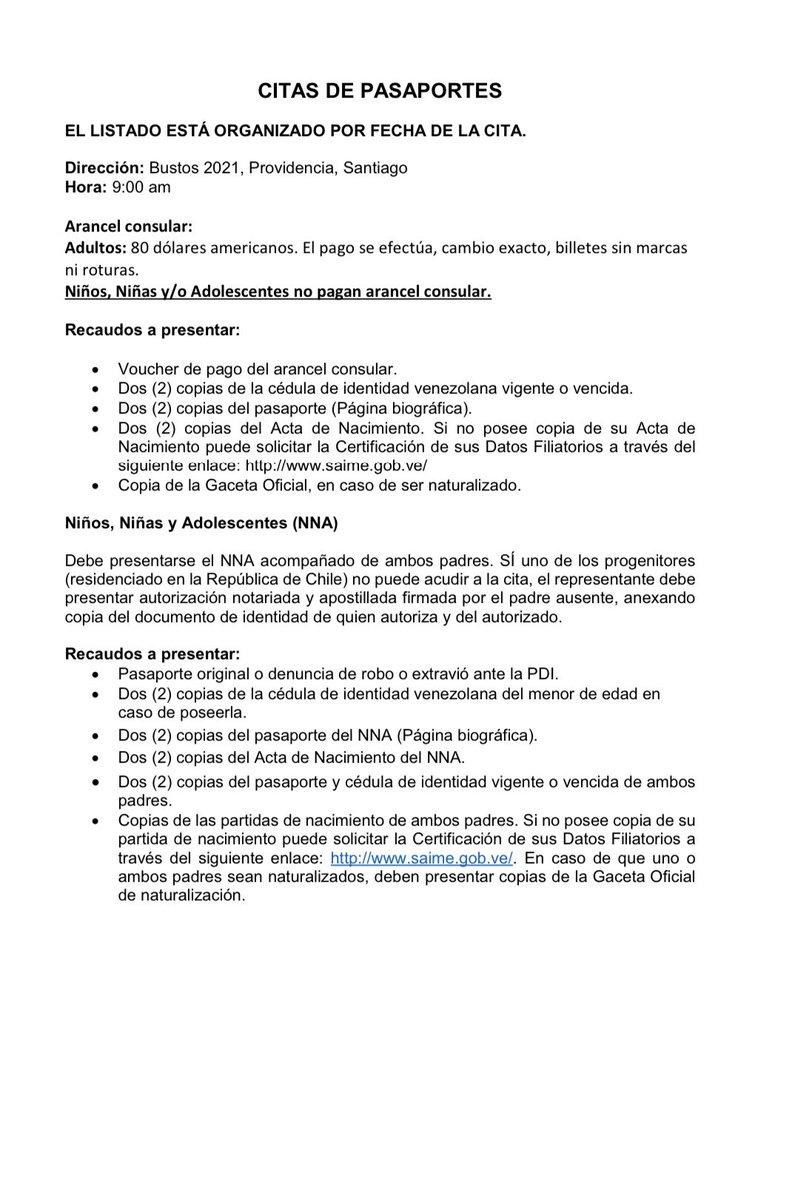 Embajada De Venezuela En Chile On Twitter Listado De Citas