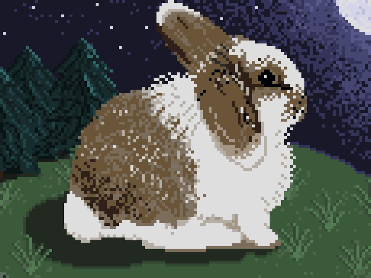 Sweet Buddy Bunny! Day #3 #pixelart #pixel_dailies <br>http://pic.twitter.com/XlkKbvMoLF