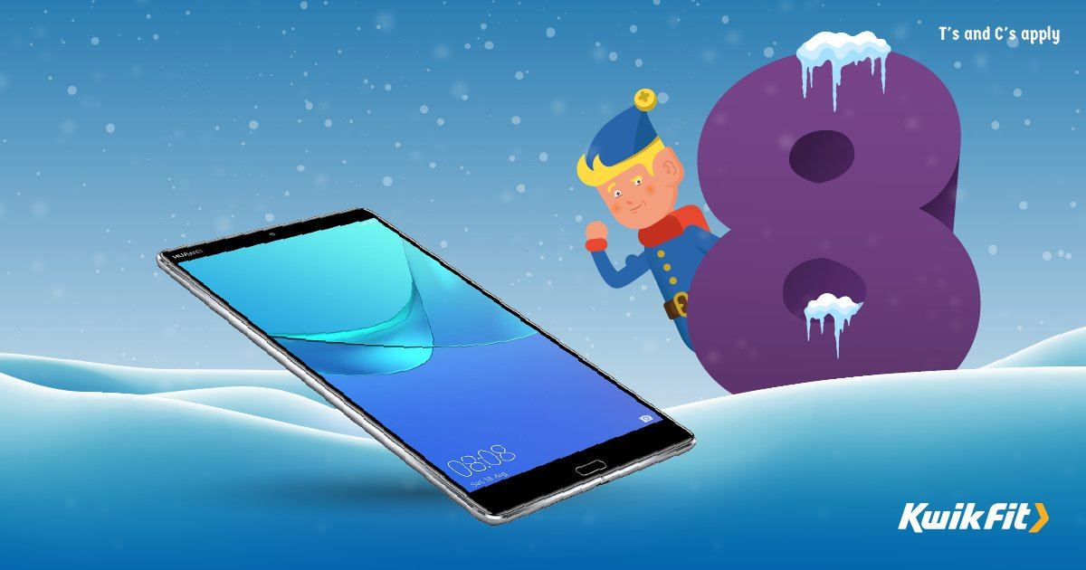 Win A Huawei Mediapad In #Day8 of #Kwikmas 🎄 RT&F for a chance to #win a Huawei Mediapad M5 32GB from @Kwik_Fit! #adventcalendar #competition #giveaway #xmas #christmas #kwikfit @kwik_fit #sundaymorning #sundaymotivation